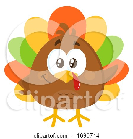 Cartoon Colorful Turkey Bird by Hit Toon