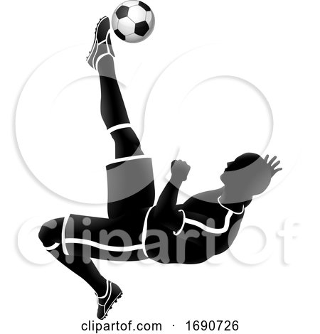 Soccer Player Silhouette by AtStockIllustration