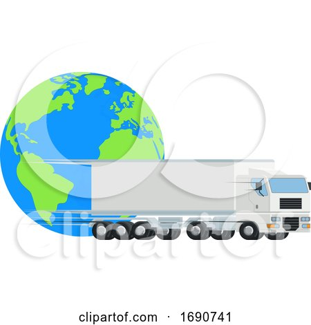 Big Rig and Earth by AtStockIllustration