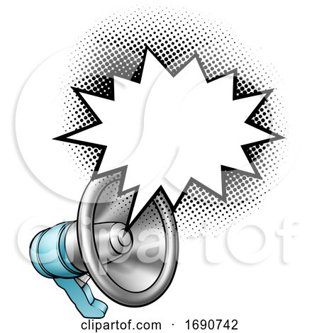 Megaphone with a Speech Bubble by AtStockIllustration