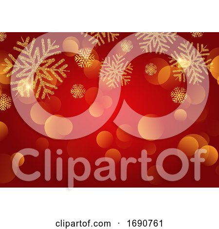 Christmas Background with Glitter Snowflakes by KJ Pargeter