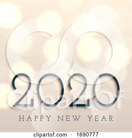 Happy New Year Background with Bokeh Lights by KJ Pargeter