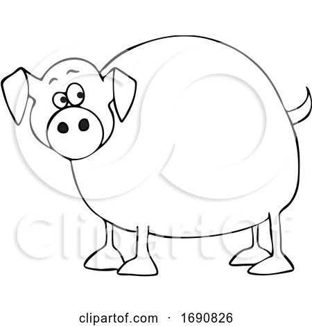 Cartoon Chubby Pig by djart