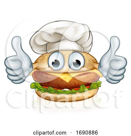 Cartoon Character Burger Food Mascot by AtStockIllustration
