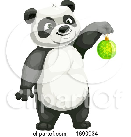 Christmas Panda by Vector Tradition SM