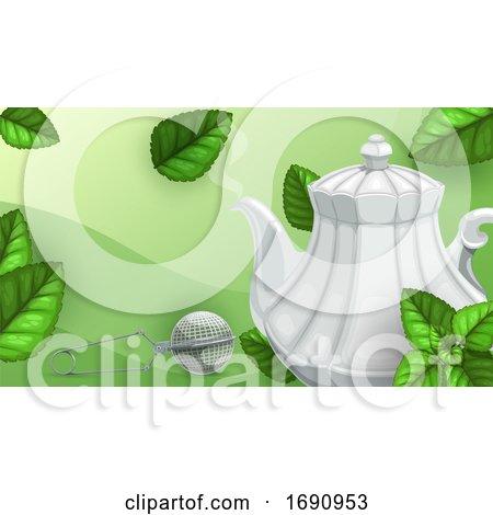 Green Tea Background Posters, Art Prints