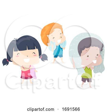 Kids Adjective Dry Illustration by BNP Design Studio