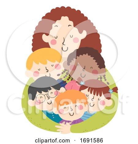 Kids Teacher Hug Illustration by BNP Design Studio