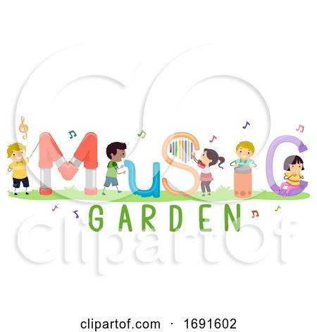 Stickman Kids Music Garden Illustration by BNP Design Studio