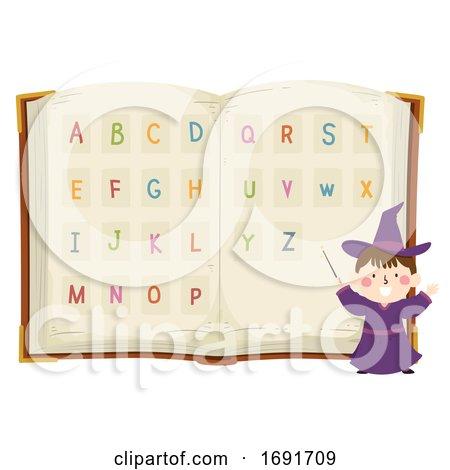 Kid Boy Wizard Alphabet Book Illustration by BNP Design Studio