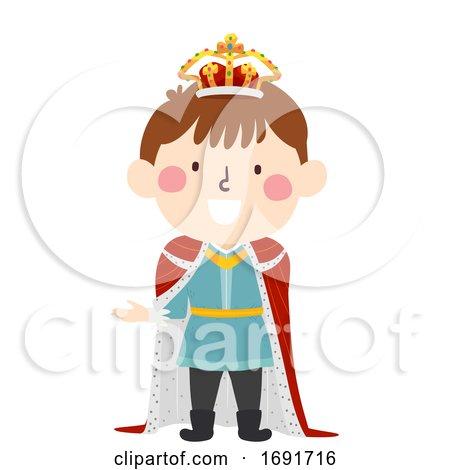Kid Boy Medieval King Illustration by BNP Design Studio