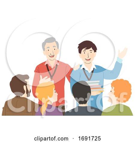 Teachers Introduce New Teacher Illustration by BNP Design Studio