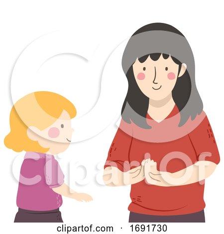 Kid Mute Talking Teacher How Are You Illustration by BNP Design Studio