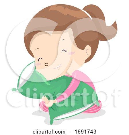Kid Girl Adjective Soft Illustration by BNP Design Studio