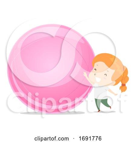 Kid Girl Adjective Big Illustration by BNP Design Studio