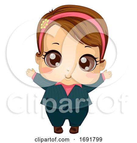Kid Girl Baby Business Suit Illustration by BNP Design Studio