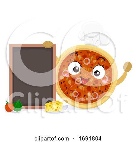 Mascot Pizza Chef Board Illustration by BNP Design Studio