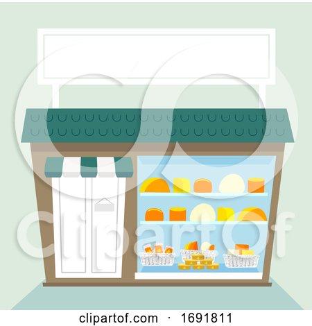 Cheese Shop Illustration by BNP Design Studio