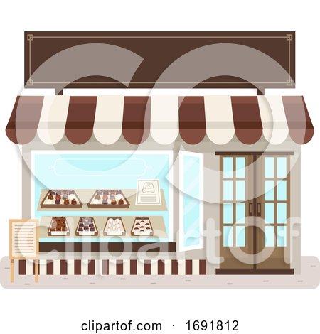 Chocolate Shop Illustration by BNP Design Studio