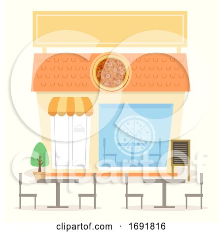 Pizza Shop Illustration by BNP Design Studio