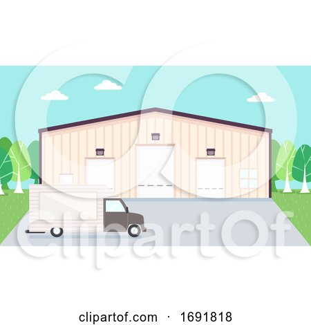Warehouse Truck Illustration by BNP Design Studio