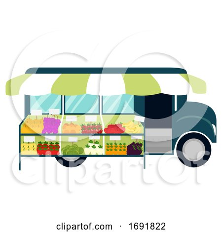 Truck Mobile Market Illustration by BNP Design Studio