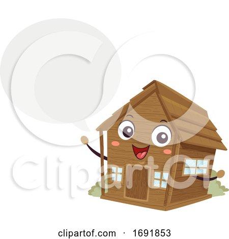 Mascot Cabin Speech Bubble Illustration by BNP Design Studio