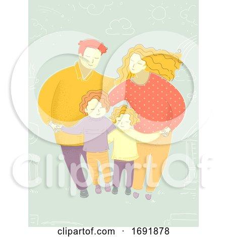 Family Harmony Illustration by BNP Design Studio