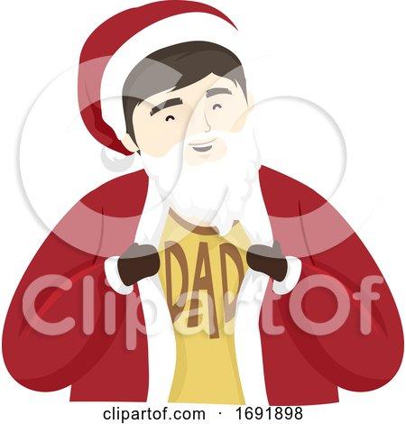Man Dad Santa Suit Illustration by BNP Design Studio