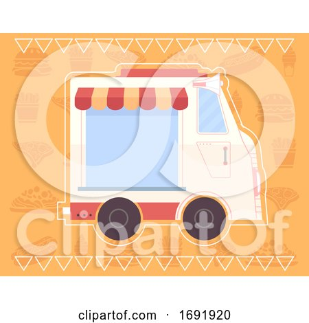 Food Truck Poster Design Illustration by BNP Design Studio
