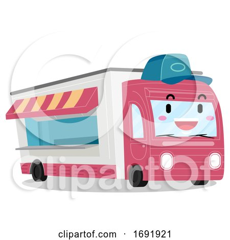 Mascot Food Truck Illustration by BNP Design Studio