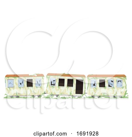 Abandoned Train Illustration by BNP Design Studio