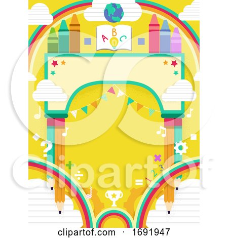 Festival Arch School 123 Background Illustration by BNP Design Studio