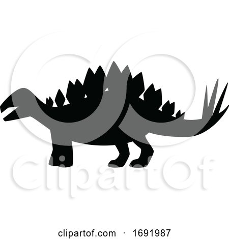 Silhouetted Dinosaur by Vector Tradition SM