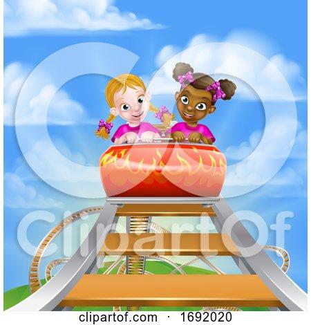 Cartoon Roller Coaster by AtStockIllustration