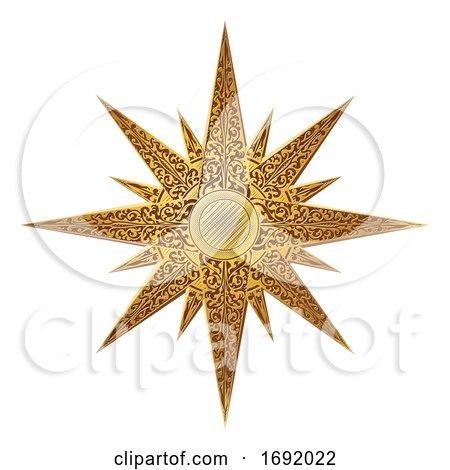 Golden Star Abstract Illustration by AtStockIllustration