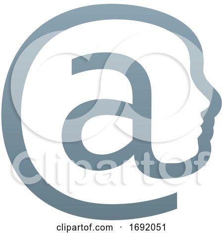At Symbol Face Concept by AtStockIllustration