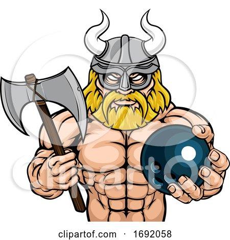 Viking Bowling Sports Mascot by AtStockIllustration