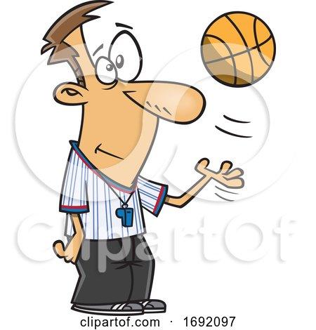 Cartoon Basketball Referee by toonaday