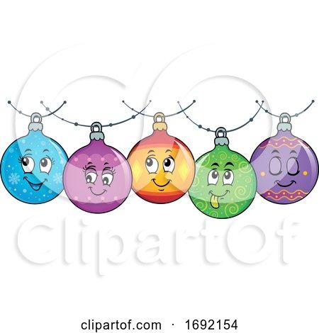 Christmas Bauble Ornament Border by visekart