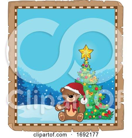 Christmas Teddy Bear Border by visekart