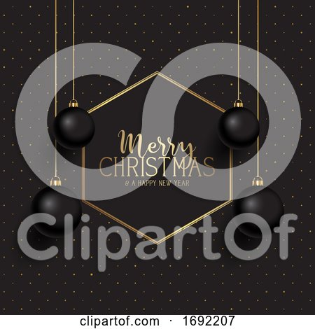 Black and Gold Christmas Background by KJ Pargeter