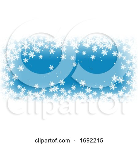 Christmas Snowflake Banner by KJ Pargeter