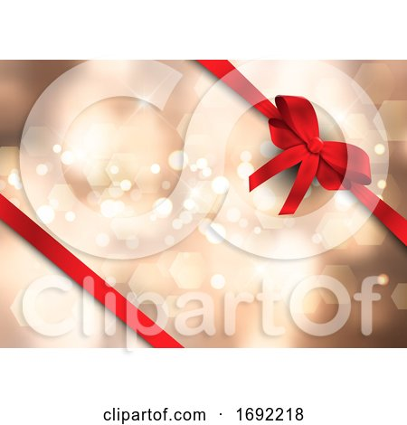 Christmas Ribbon Background by KJ Pargeter