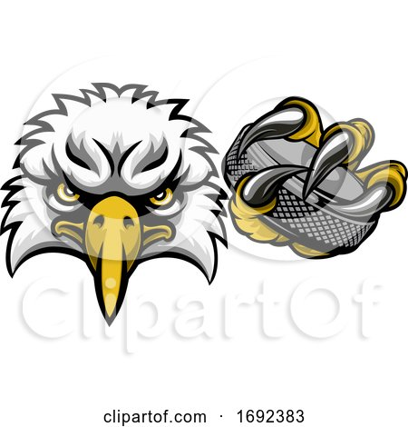 Eagle Ice Hockey Player Animal Sports Mascot by AtStockIllustration