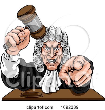 Judge Cartoon Character by AtStockIllustration