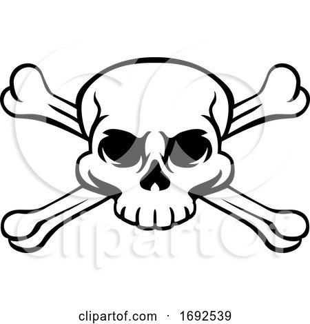 Skull and Crossbones Pirate Jolly Roger by AtStockIllustration