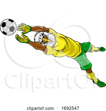 Eagle Soccer Football Player Animal Sports Mascot by AtStockIllustration