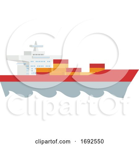 Logistics Cargo Container Ship Concept by AtStockIllustration