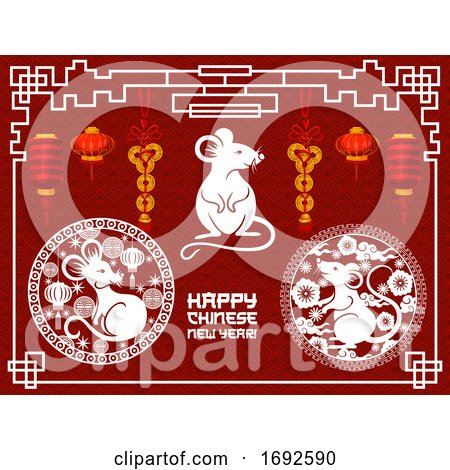 Happy Chinese New Year Design by Vector Tradition SM #1692590